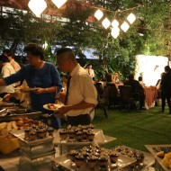 Evening Wedding Dinner Buffet at The Gardens