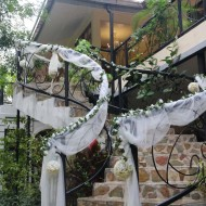 The wedding decorations at The Gardens