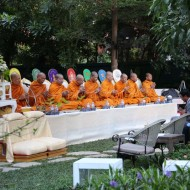Ceremony for the Monks Outside at The Gardens