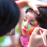 Face Painting at The Gardens - Kids Birthday Party
