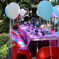 Kids Birthday Party Table at The Gardens